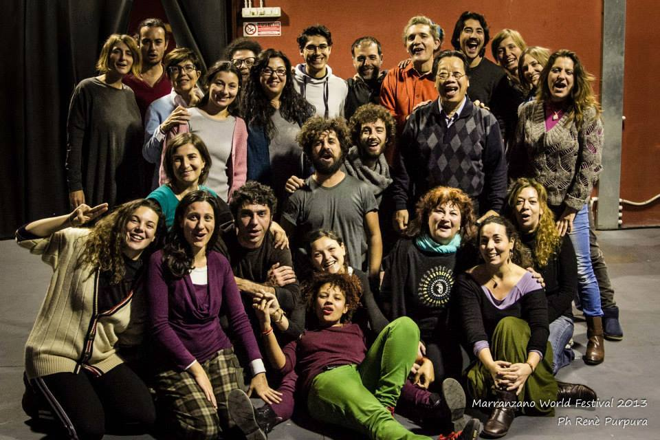 TRAN QUANG HAI & participants of overtone workshop in Catania, dec 2013